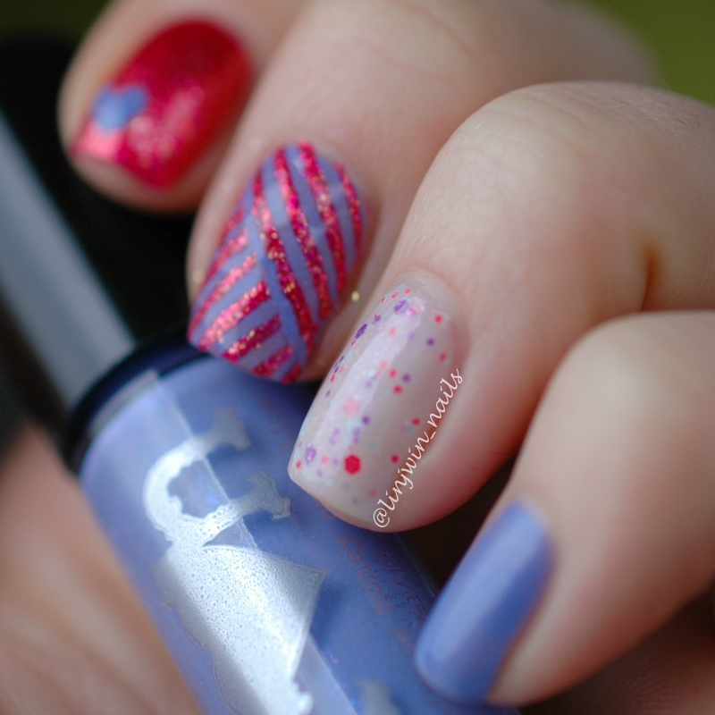 Valentine's Manicure with Rainbow Honey Nail Polish