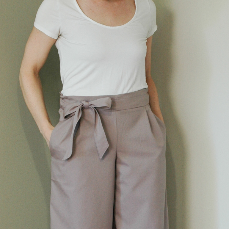 DIY Bow Culottes