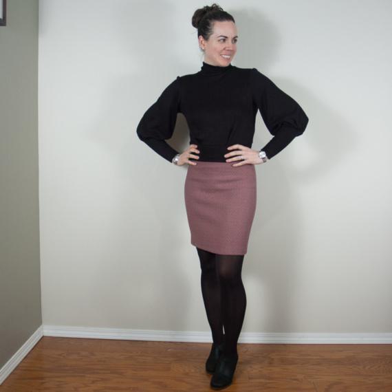 DIY puff sleeve sweater