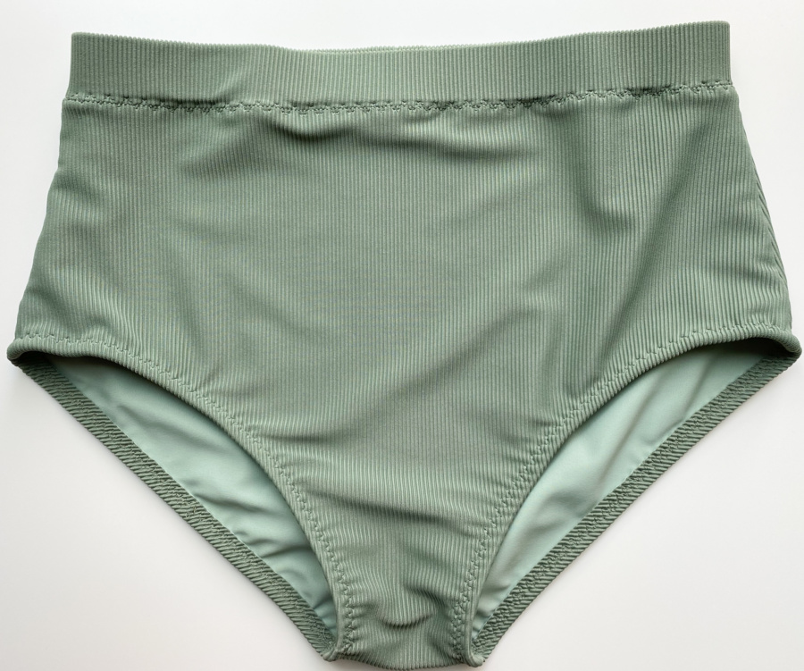 Vernazza swim suit bottoms in ribbed tricot, flat lay