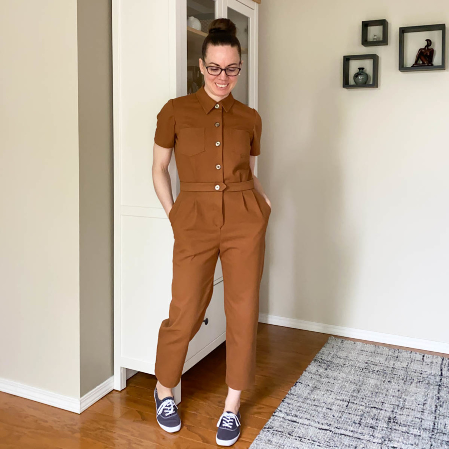 Me in my Len Coveralls with Navy blue Keds
