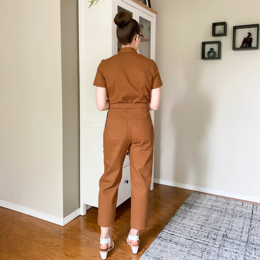 Back view of me in my Len Coveralls