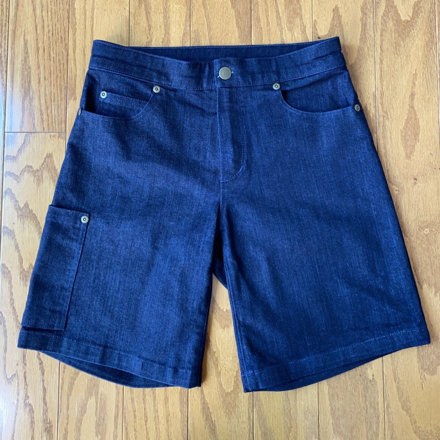 Ginger jean shorts flat lay front view